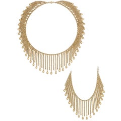 Van Cleef & Arpels Gold 'Fringe' Necklace and Bracelet