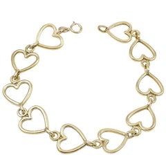 Van Cleef & Arpels Gold Heart Bracelet