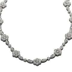 Tiffany & Co. Garden Flower Diamond Platinum Necklace