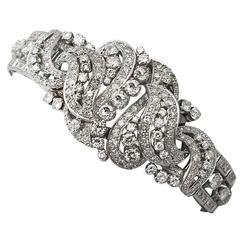 1950s 10.56 Carat Diamond Gold Bracelet