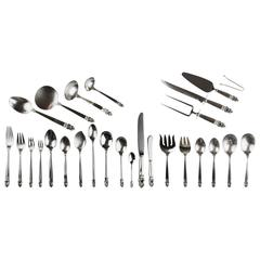 Sterling Silver International Royal Danish 136 Piece Flatware Set
