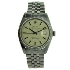 Rolex Steel Datejust Carbonized with Custom Dial from 1969