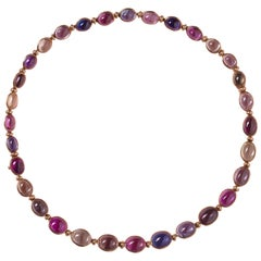 Bulgari Gold Necklace or Bracelets with Colored Sapphires