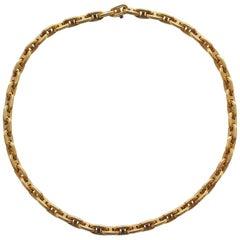 Hermès Chaîne d'ancre Gold Necklace