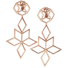 Rose Gold Twinkle Earrings Big