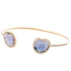 Karolin Rose Gold White Diamond Agate Geode Bracelet