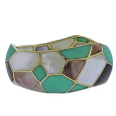 Ippolita Rock Candy Deco Pisa Chrysoprase Gold Bracelet