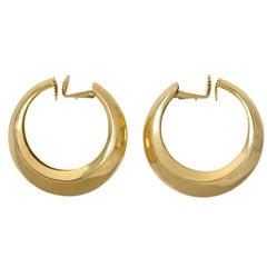 Tiffany & Co. Gold Clip-On Hoop Earrings