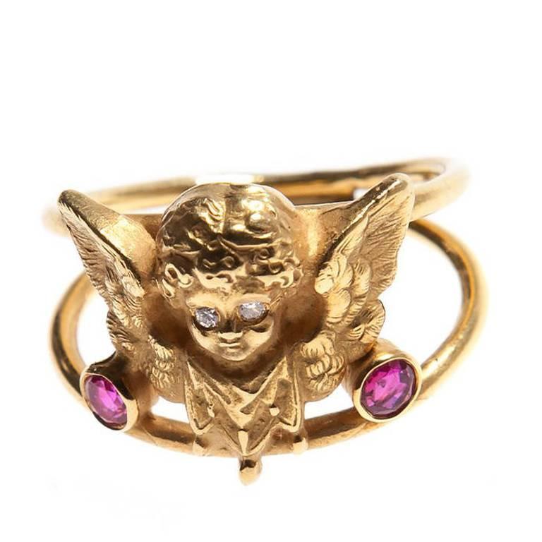 Cupid Ruby Diamond Ring