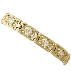1990s 2.10 Carat Diamond and Yellow Gold Bracelet