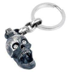 Deakin & Francis Large Skull Head Keyring with Popping Gem Eyes