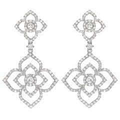 Kiki McDonough 18 Carat White Gold Diamond Drop Earrings