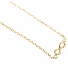 9 Carat Yellow Gold Infinity Necklace