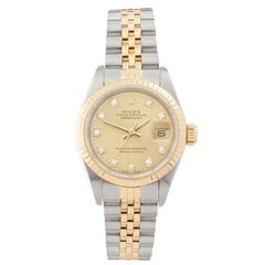 Rolex Datejust Stainless Steel and 18 Karat Yellow Gold 69173