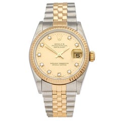Rolex Datejust Stainless Steel and 18 Karat Yellow Gold 68273