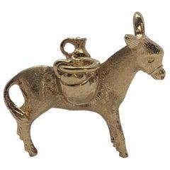 Vintage 18 Karat Gold Donkey Pendant Charm
