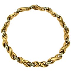 Cartier 18 Karat Bi-Color Gold Link Necklace