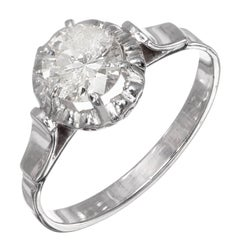 .85 Carat Round Diamond Platinum Gold Solitaire Engagement Ring