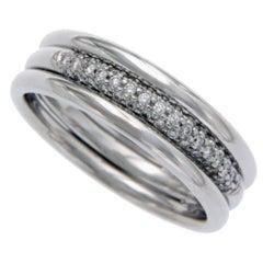 Scott Kay Men's/Women's Platinum Pave Diamond Band Ring