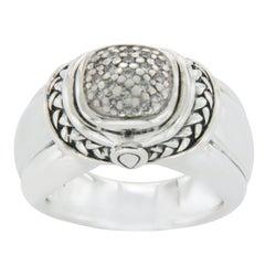 Scott Kay 925 Sterling Silver Diamonds Engagement Ring