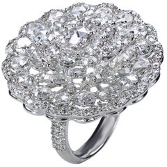 Studio Rêves Rose Cut Floral Cluster Ring