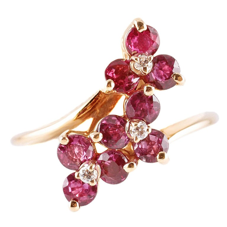 1.50 Carat Ruby Diamond Ring
