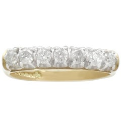Contemporary Diamond and Yellow Gold Half Eternity Ring