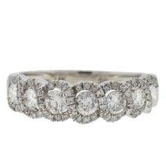 14 Karat White Gold Twist Style Diamond Band Ring 1 Carat