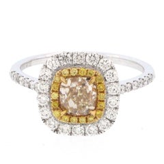 Natural Diamond Engagement / Fashion Ring .86 Carat Diamond Centre, 18 Karat
