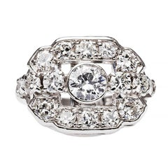 Art Deco Diamond Platinum Gold Ring