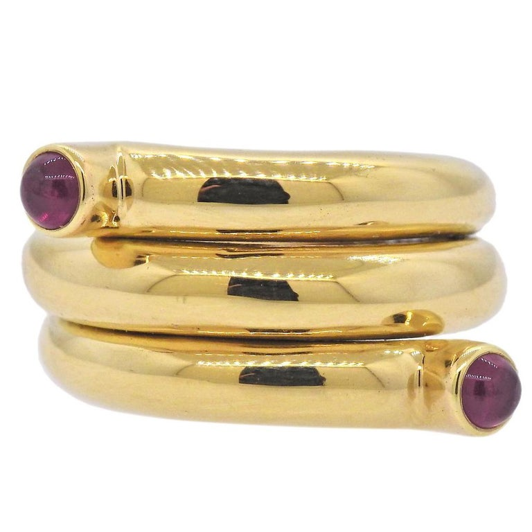 Tiffany & Co. Schlumberger Ruby Gold Wrap Ring