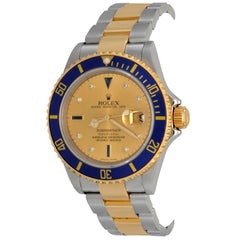 Rolex Yellow Gold Stainless Steel Submariner Oyster Date Automatic Wristwatch