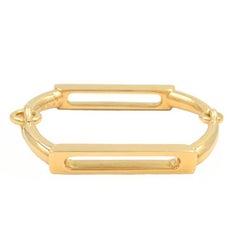 Vintage Gucci 18 Karat Gold Double Hinged Link Bracelet