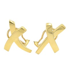 Tiffany & Co. Paloma Picasso 18 Karat Gold X Earrings