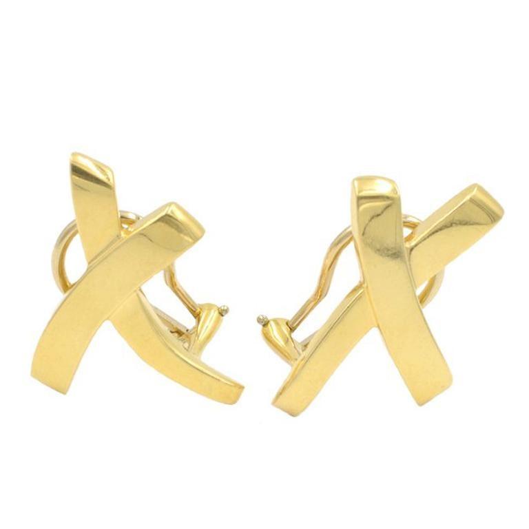 Tiffany & Co. Paloma Picasso 18 Karat Gold X Earrings
