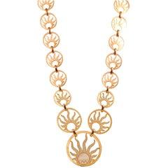 Chopard Happy Diamonds Sun Motif Necklace