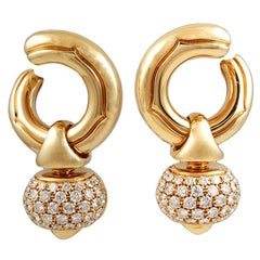 Bulgari Diamond Pigne Ear Clips