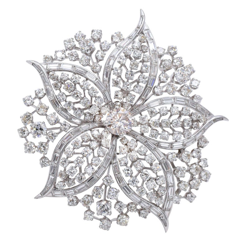 Harry Winston Diamond Brooch For Sale