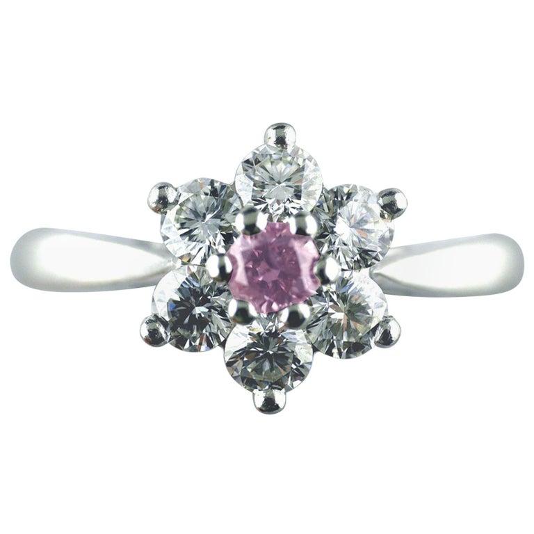 Certified Untreated Fancy Purple Diamond Platinum Star Cluster Ring, 2010