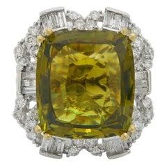 GIA Certified 7.96 Carat Alexandrite Diamond Fashion Ring