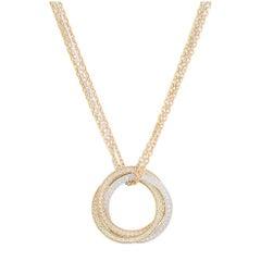 Cartier Tri-Color Diamond Trinity De Cartier Necklace