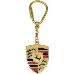 Tiffany & Co. Gold and Enamel Porsche Key Ring
