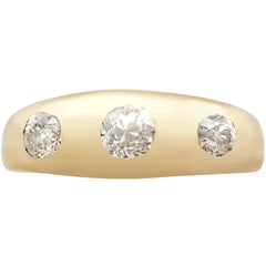 1910s Antique Diamond and Yellow Gold Gent's Ring