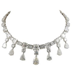 Important 1950s Diamond Platinum Festoon Necklace
