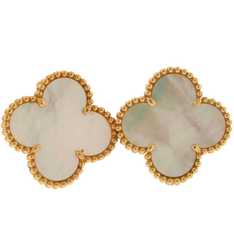 Van Cleef & Arpels Magic Alhambra Earrings  For Sale