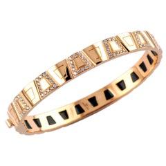 0.86 Carat White Diamond 18 Karat Rose Gold Theodora Bangle Bracelet