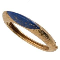 Kutchinsky 18k Yellow Gold and Lapis Lazuli Bangle