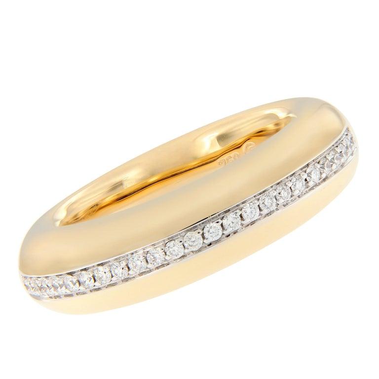 Scheffel Diamond Dome Yellow Gold Band Ring