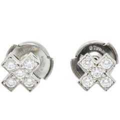 Tiffany & Co. Contemporary 0.30 Carat Diamond Platinum Cruciform Earrings