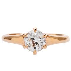 Victorian Inspired 1.01 Carat Diamond Engagement Ring